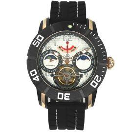 意大利品牌:天铭(Timing)-陀飞轮系列 8100SX(黑色壳白色面)陀飞轮机械表