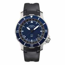 莫勒·航海领域的专业时计,来自德国格拉苏蒂Muehle·Glashuette Nautical Wristwatches 航海系列-海军上尉 GMT M1-28-62-KB 德国海军定制款