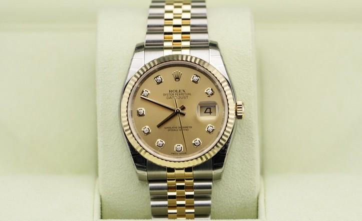 html 劳力士手表是天文认证自动机械机芯,18ct黄金与904l不锈钢间金的图片
