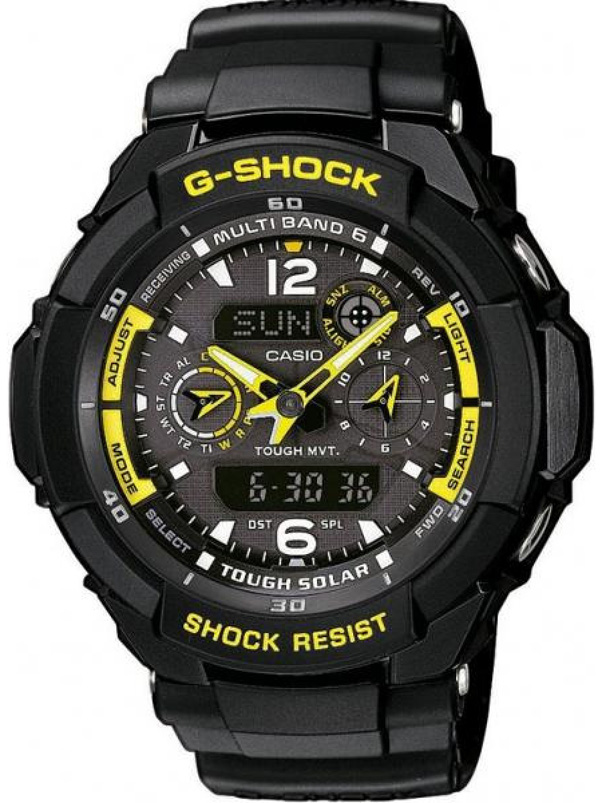 卡西欧CASIO-G-SHOCK系列 GW-3500B-1A 男士光能表