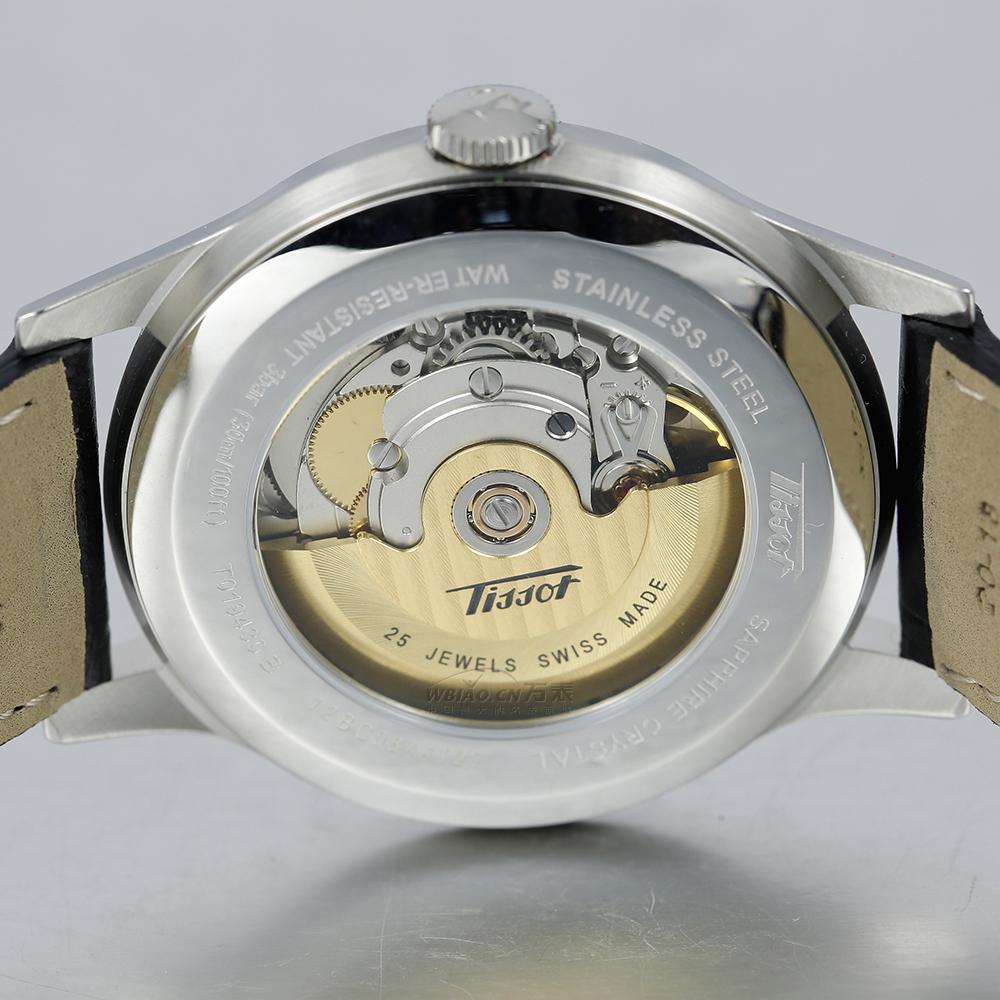 可以看到机芯的天梭表,千元级别天梭背透机械男表