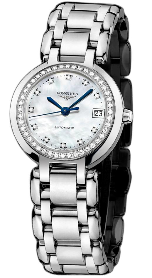 浪琴女士镶钻机械手表 心月系列 女士机械表