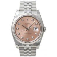 劳力士ROLEX-日记型系列 116234-63600G粉红色10钻 机械男表