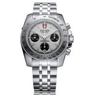 帝舵手表-多功能计时系列 20300-93570(白色/黑色表面)机械男表