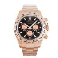 勞力士ROLEX -宇宙計型迪通拿系列 116505 78595迪通拿紅金 黑盤粉紅色計時盤 男士機械表