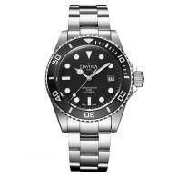 专业极潜水表!瑞士迪沃斯(DAVOSA)-Diving 潜水系列 Ternos Pro-Black 专业防水500M 16155650 机械男表