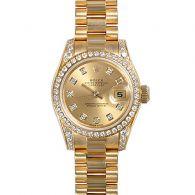 劳力士Rolex-女装日志型系列 179158-83138香槟色10钻 女士自动机械表