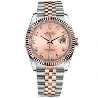 劳力士-日志型系列 116231-63601粉红色10钻 男士机械表