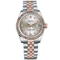 劳力士-女装日志型系列 178271-63161银色10钻 女士机械表