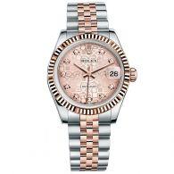 劳力士-女装日志型系列 178271-63161 粉红色花纹10钻 女士机械表