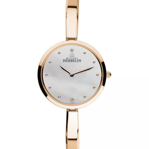 法国总统夫人之选 法国优雅腕表品牌:赫柏林Michel Herbelin-Salambo 永恒系列 -金色圆舞曲-17411/BPR19 女士石英表