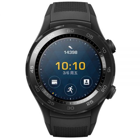 限量现货!HUAWEI-华为WATCH2 LEO碳晶黑 华为第二代智能运动手表蓝牙版 蓝牙通话 GPS心率FIRSTBEAT运动指导 NFC支付