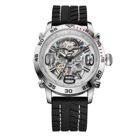 意大利品牌:天铭(Timing)-极限系列 8144SX-A(钢壳白色表面)机械男表