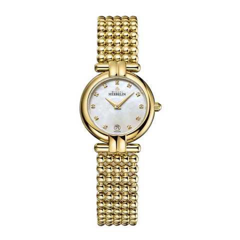 法国总统夫人之选 法国优雅腕表品牌:赫柏林Michel Herbelin-Perles 珍珠系列 雅典娜女神 16873/BP59 女士腕表