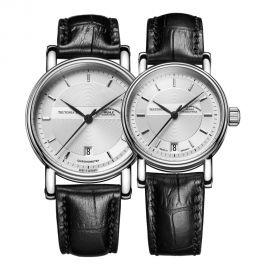 莫勒·航海领域的专业时计,来自德国格拉苏蒂Muehle·Glashuette Classical Timepieces 经典系列-日耳曼时计 M1-30-45-LB、M1-30-25-LB 情侣机械表