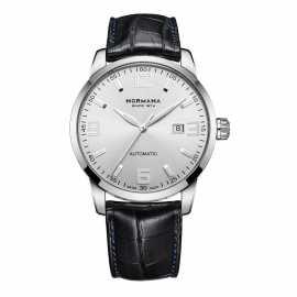 瑞士百年高端制表品牌:诺美纳NORMANA-名仕系列 96001 机械男表(鳄鱼皮表带)