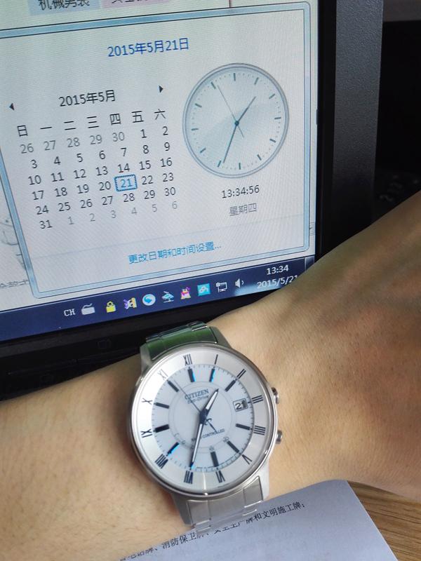 西铁城AS5030-53A手表【表友晒单作业】看了很久了...