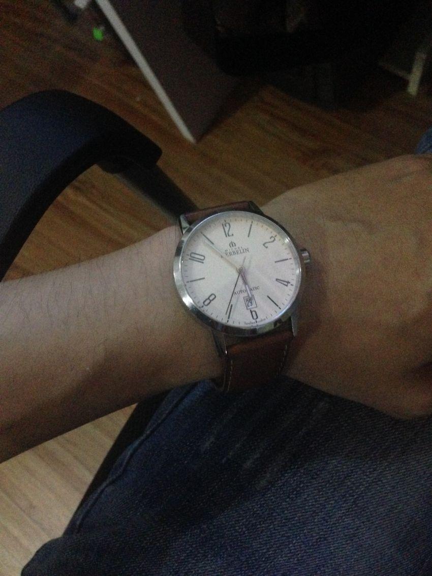 赫柏林1669/07GO手表【表友晒单作业】带了一个多...