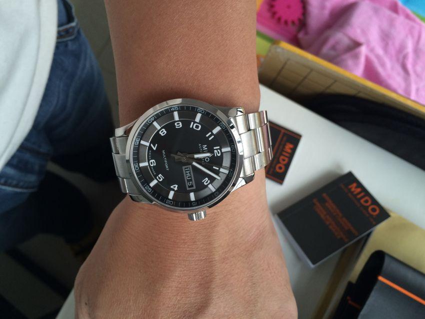 美度M005.430.11.052.00手表【表友晒单作业】手表很漂亮...