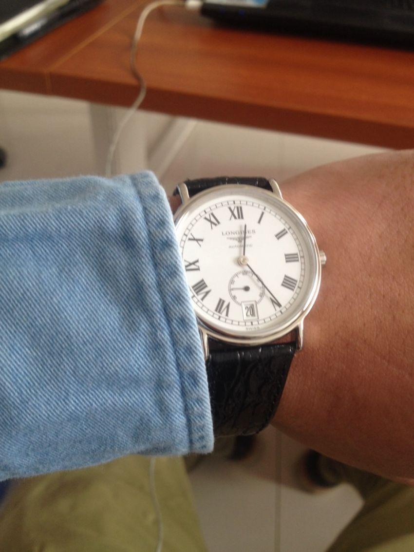 浪琴L4.804.4.11.2手表【表友晒单作业】还没到专柜...