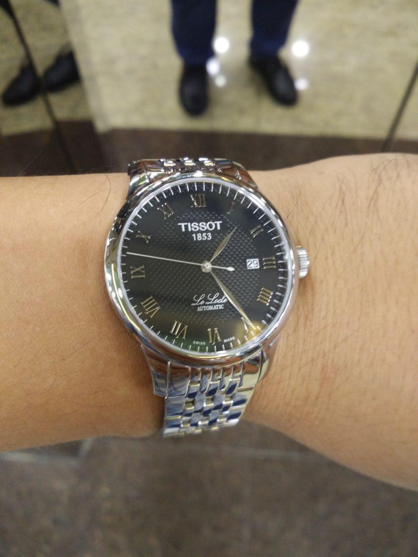 天梭T41.1.483.53手表【表友晒单作业】早上收到表...