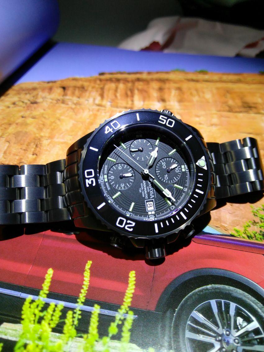 迪沃斯16150880手表【表友晒单作业】黑色很酷的...