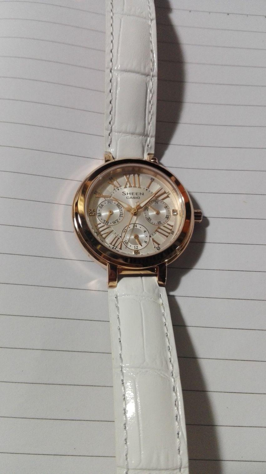 卡西欧SHE-3034GL-7AUPR手表【表友晒单作业】一千块 不...