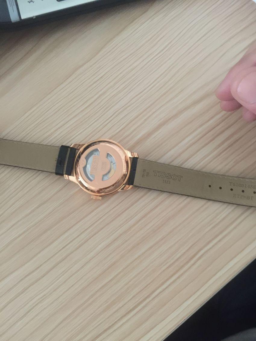 天梭T41.5.423.53手表【表友晒单作业】金黄的表壳...