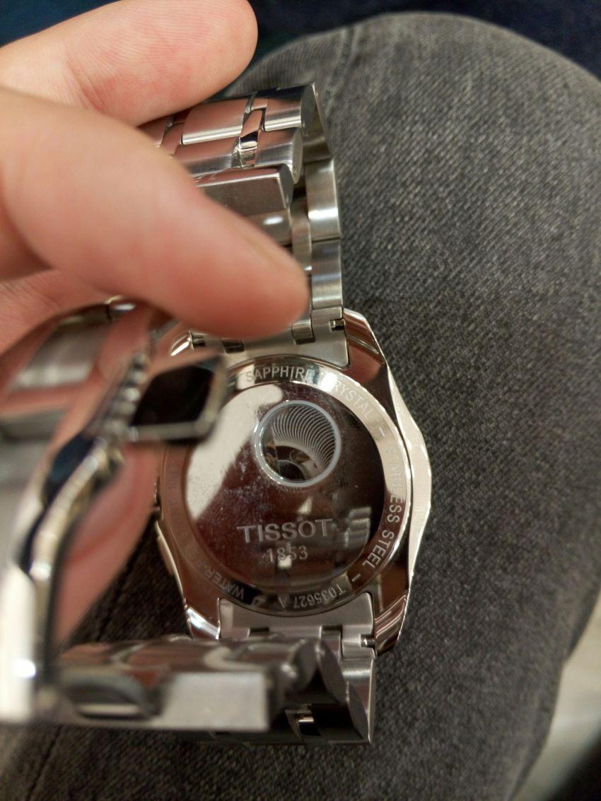 天梭T035.627.11.031.00手表【表友晒单作业】买来送人的...