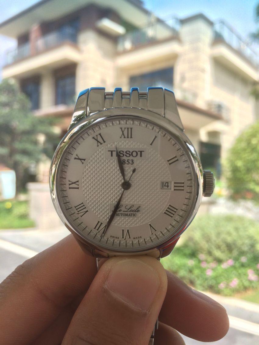 天梭T41.1.483.33手表【表友晒单作业】一天快5秒...