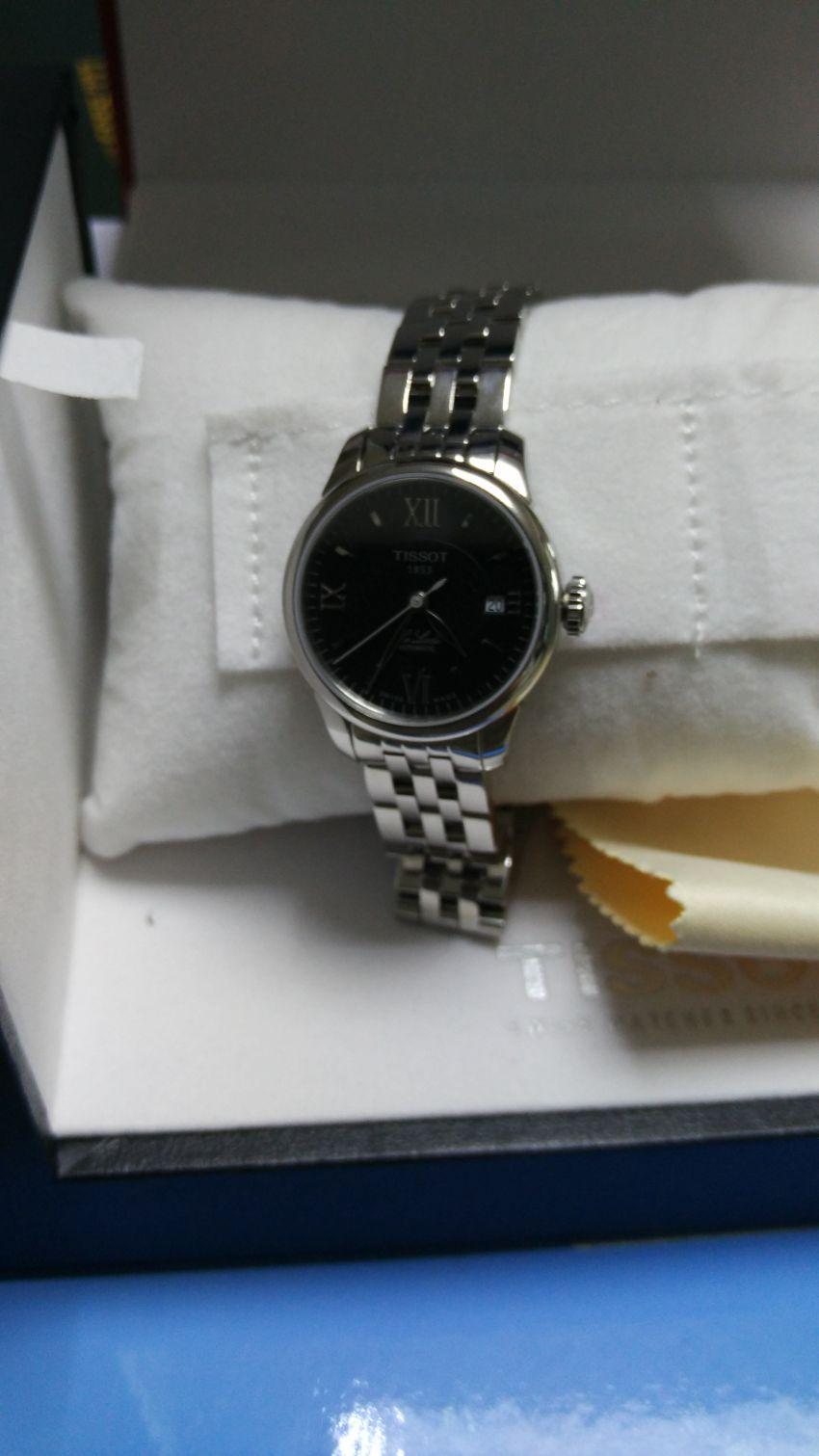 天梭T41.1.183.53手表【表友晒单作业】给媳妇买的...