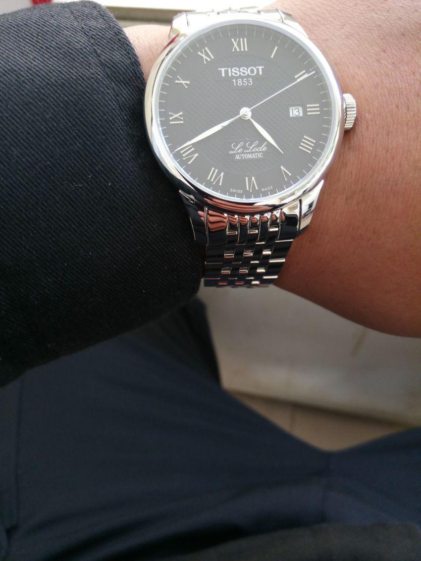 天梭T41.1.483.53手表【表友晒单作业】宝贝收到了...