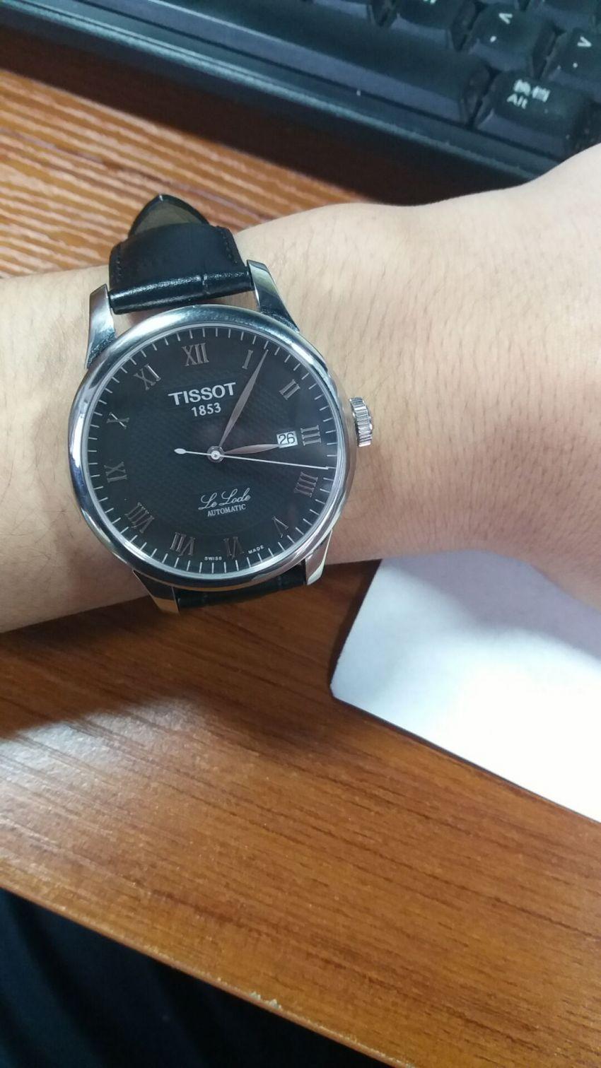 天梭T41.1.423.53手表【表友晒单作业】感觉是正品...