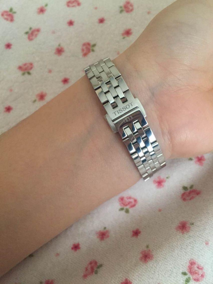 天梭T41.1.183.33手表【表友晒单作业】戴上很漂亮...