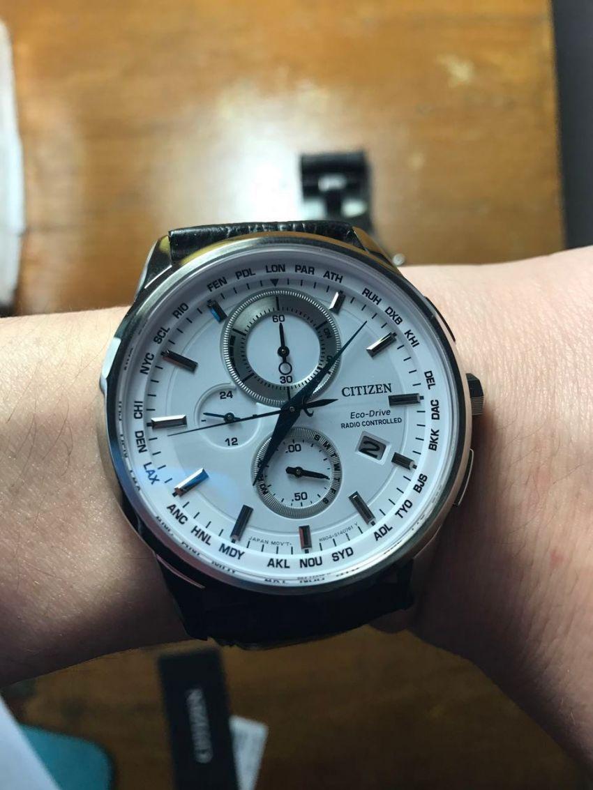 西铁城AT8110-11A手表【表友晒单作业】包装很好,...