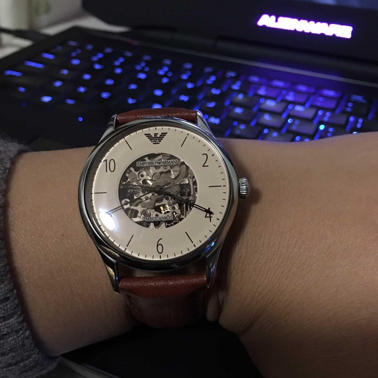 阿玛尼AR1922手表【表友晒单作业】外观远看上...