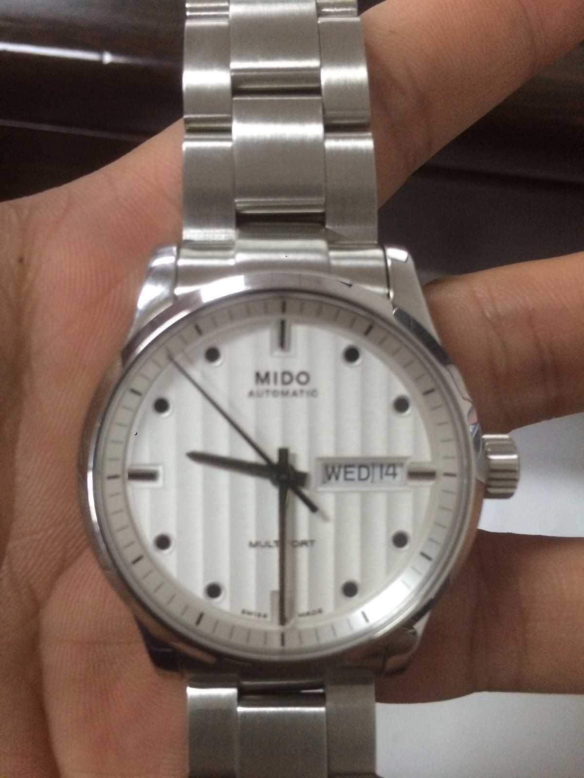 美度M005.830.11.031.00手表【表友晒单作业】上周入手白...