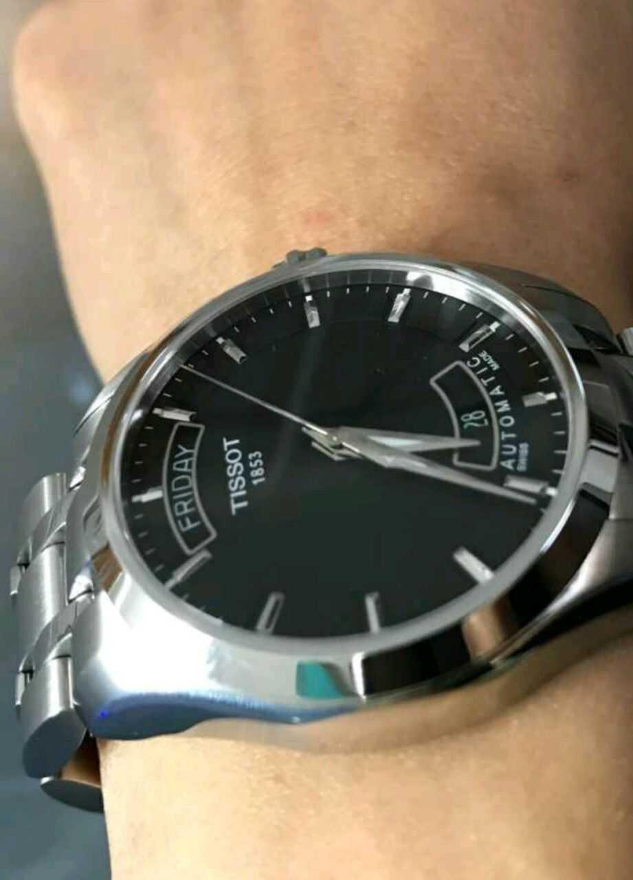 天梭T035.407.11.051.00手表【表友晒单作业】手表带是正...