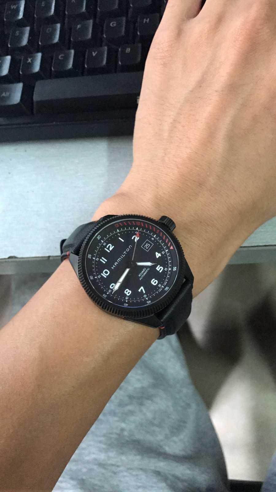 汉米尔顿H76695733手表【表友晒单作业】之前去免税...