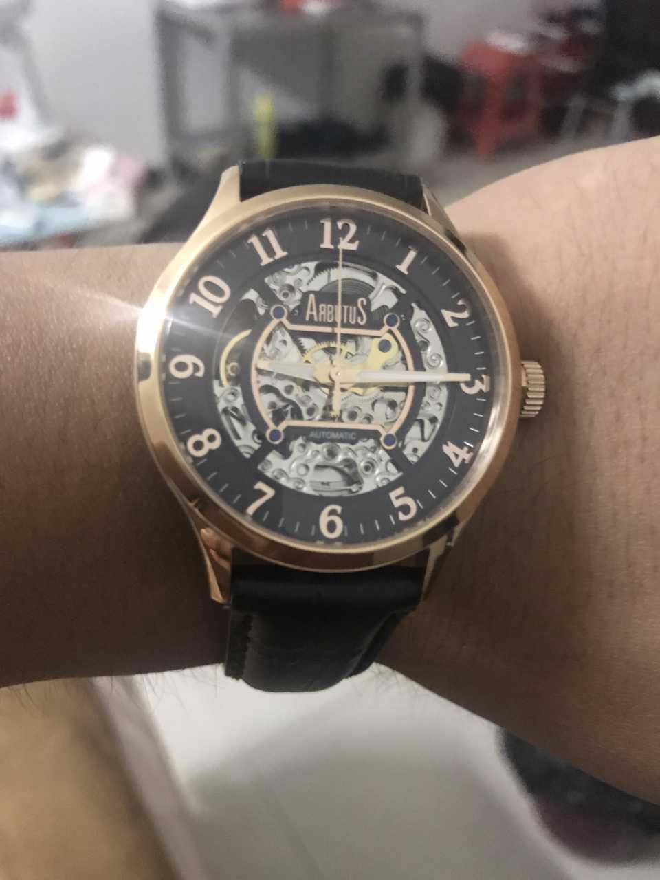 爱彼特AR406RBB手表【表友晒单作业】这个机械手...
