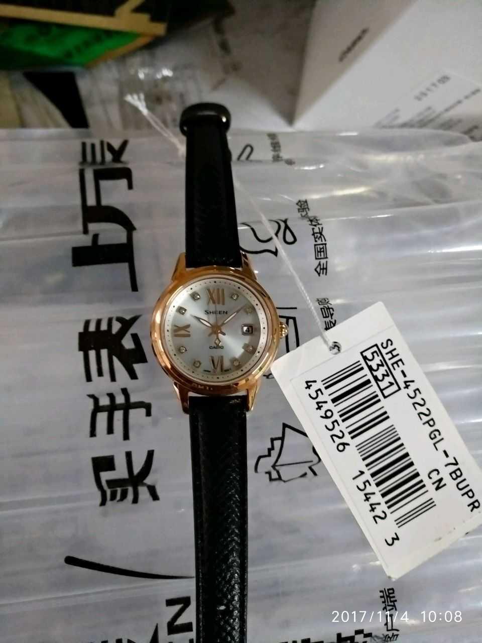卡西欧SHE-4522PGL-7BUPR手表【表友晒单作业】第二次在万...