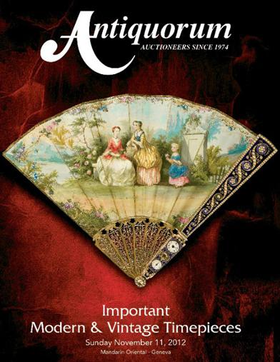Antiquorum安帝古伦日内瓦举行秋拍卖会 众多精品将呈现