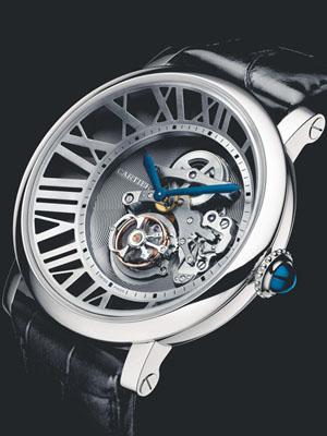 概念式风格:卡地亚 Rotonde de Cartier Cadran Lové浮动式陀飞轮手表
