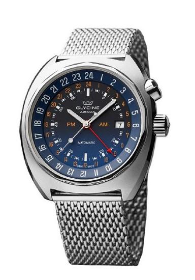 瑞士Glycine AIRMAN SST 12三地时显示腕表简介