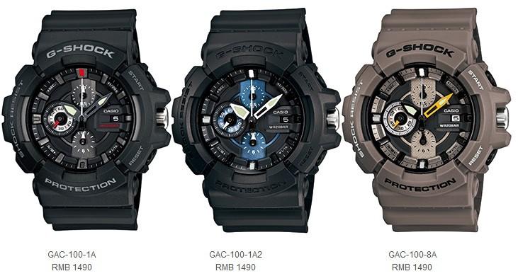 卡西欧新款G-SHOCK指针手表