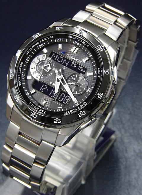 卡西欧最贵的手表推荐:OCEANUS系列OCW-T400TB-1A 男士光能表
