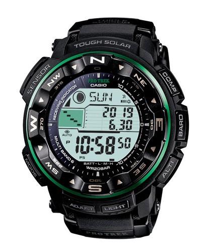 卡西欧指南针手表PRW-2500-1B男士光动能表推荐