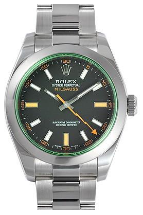 过年送领导什么手表好?劳力士Rolex-MILGAUSS系列 116400GV-72400黑白/橙标记 男士机械表