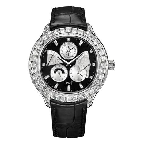 伯爵-非凡珍品系列 G0A37020 男士机械表万年历镶衬美钻 非凡珍品