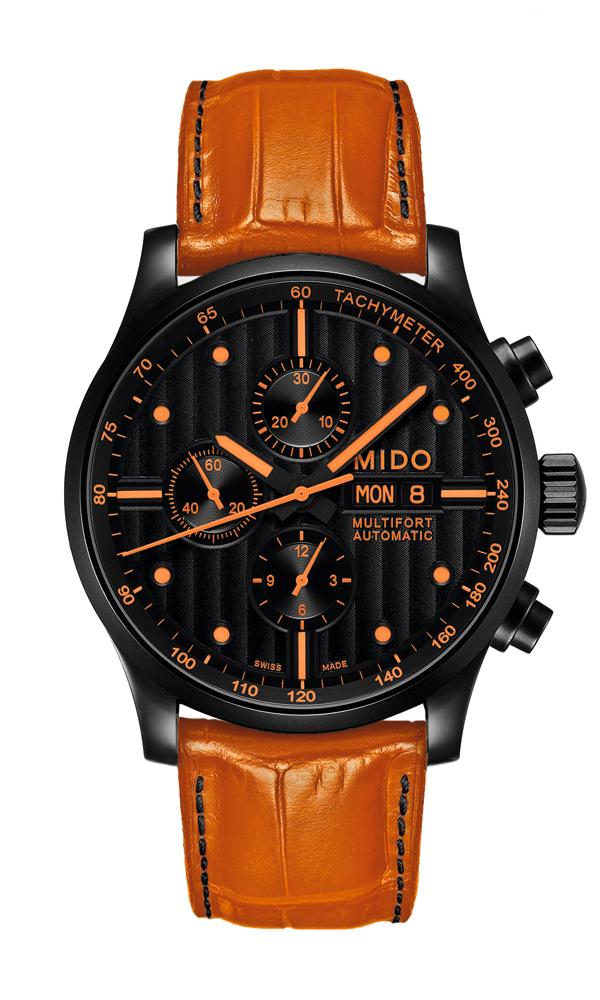 热情橙色:舵手多功能特殊款男士腕表